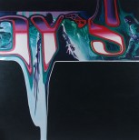 Alien Warship - Acrylic on Canvas 4x4' 2014