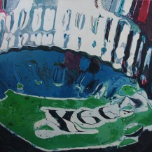 K66 - Acrylic on Canvas 3x3' 2013