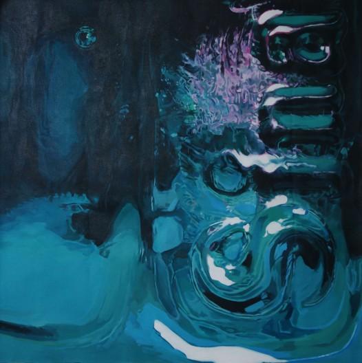 Blue Sin - Acrylic on Canvas 3x3' 2013
